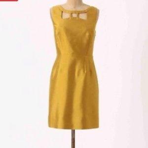 Anthropologie Chardonnay Sheen Bow Dress